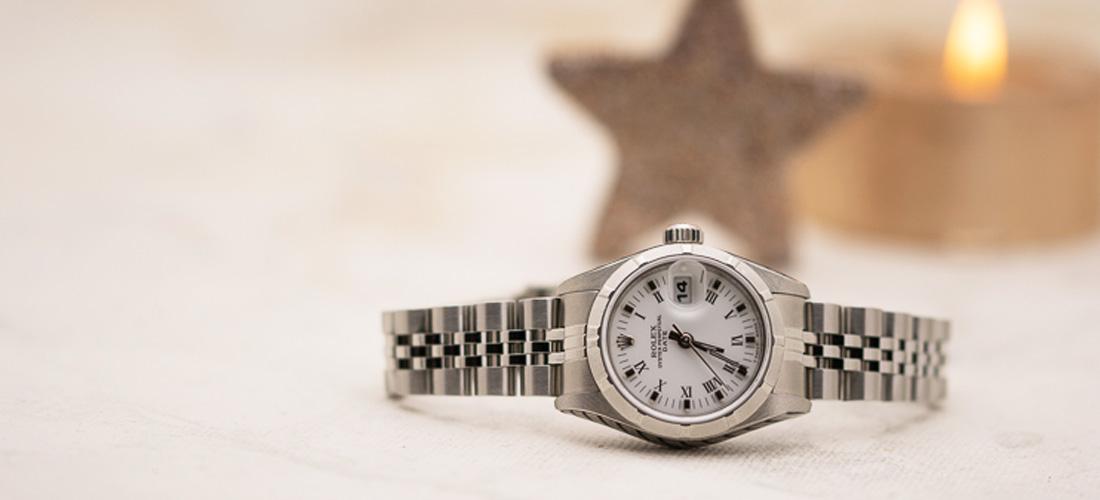 Verschenken Sie zu Weihnachten eine Rolex Oyster Perpetual Date Damenarmbanduhr Automatik