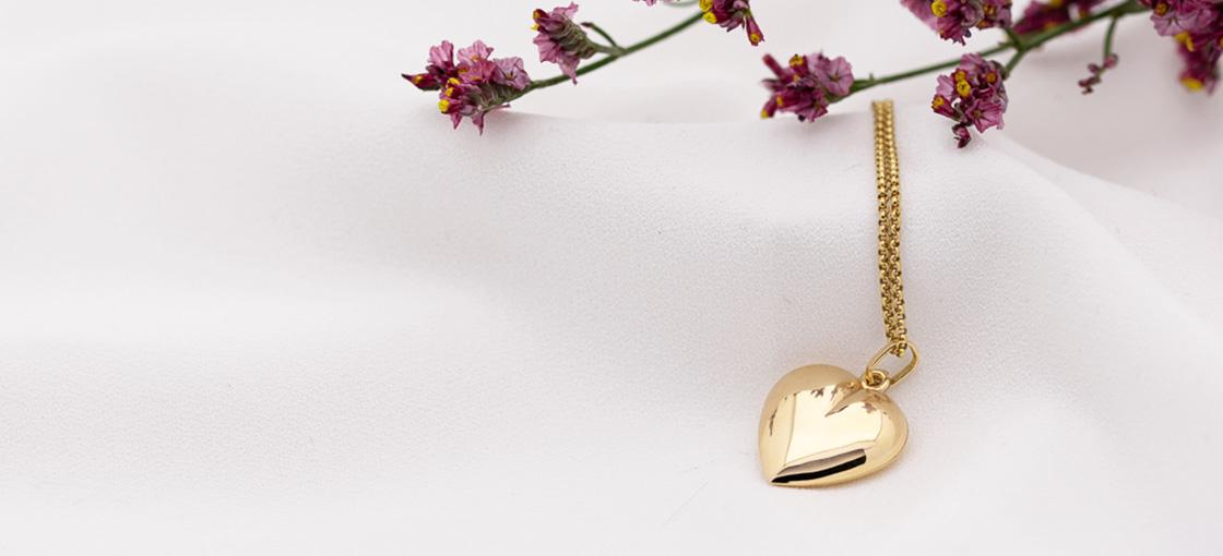 Geschenke zum Valentinstag - Herz aus Gold